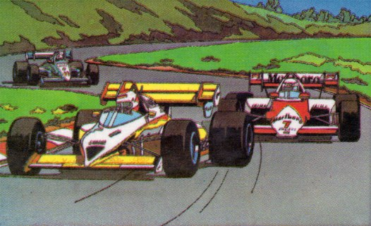 "The Japanese Famicom label for ""F1 Race"""